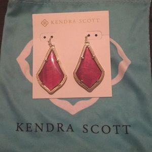 Kendra Scott red opaque earrings